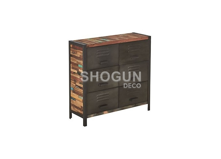 Commode industrielle Locker - 6 tiroirs