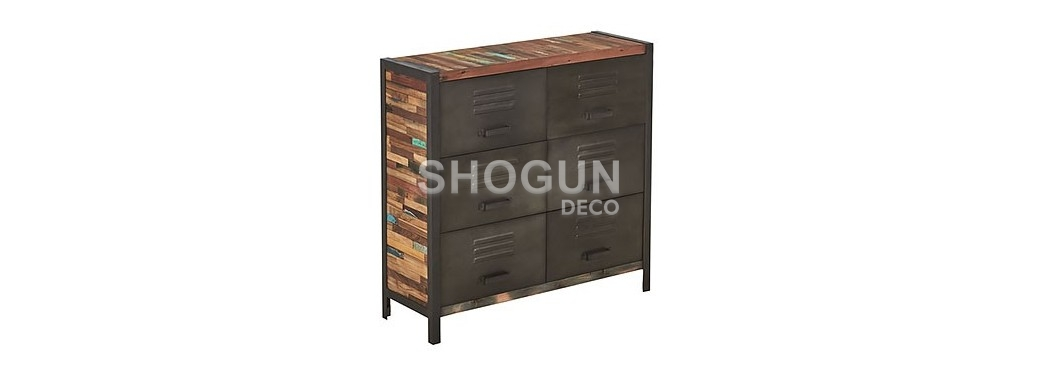 Commode Locker, 6 tiroirs