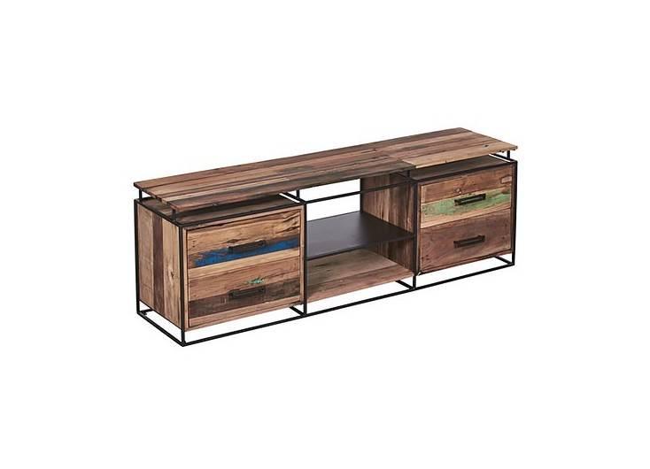 Meuble TV industriel Nako - 4 tiroirs