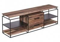 Meuble TV industriel Nako - 2 tiroirs