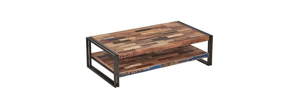 Table basse rectangulaire Samudra, plateau double