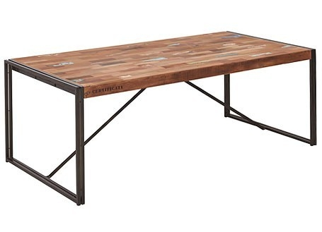 Table de repas fixe industrielle rectangulaire Samudra