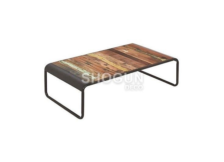Table basse industrielle rectangulaire Sixties