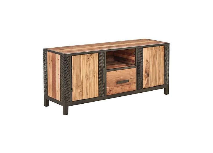 Meuble TV industriel Chic avec 2 portes et 1 tiroir