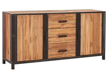Buffet industriel Chic avec 2 portes et 3 tiroirs
