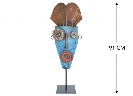 Masque décoratif en métal recyclé - L1