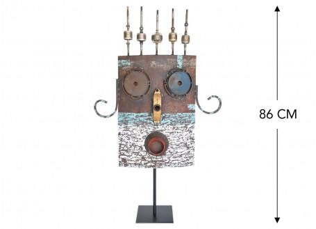 Masque décoratif en métal recyclé - L3