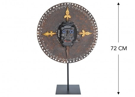 Masque décoratif en métal recyclé - L7