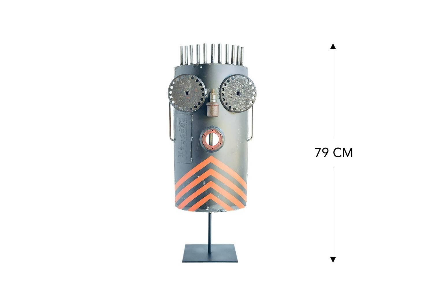Masque décoratif en métal recyclé - LA12