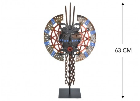Masque décoratif en métal recyclé - M24