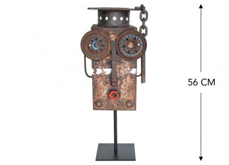Masque décoratif en métal recyclé - M28