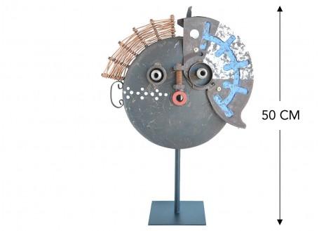 Masque décoratif en métal recyclé - MA21