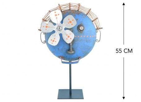 Masque décoratif en métal recyclé - MA23