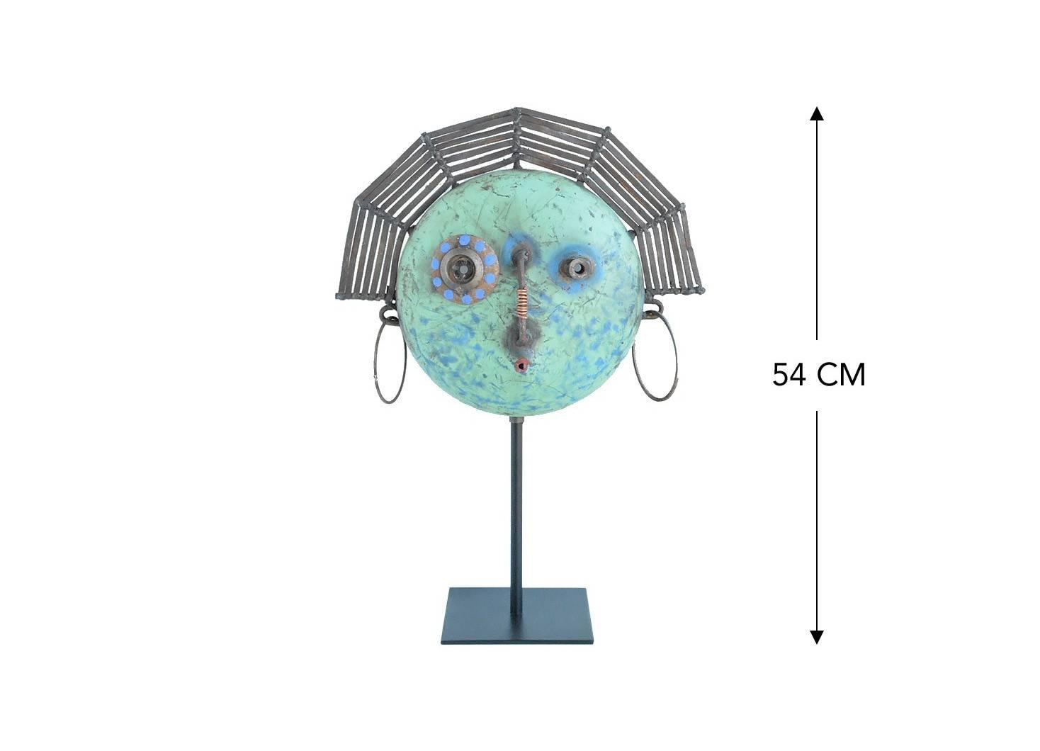 Masque décoratif en métal recyclé - MA24