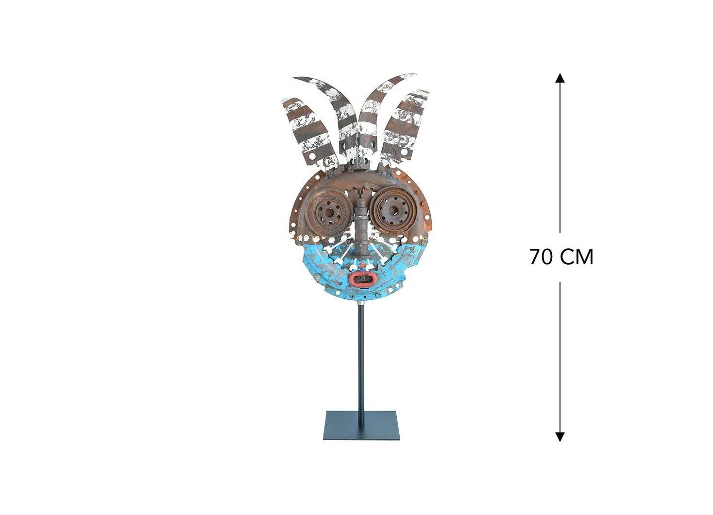Masque décoratif en métal recyclé - MA230