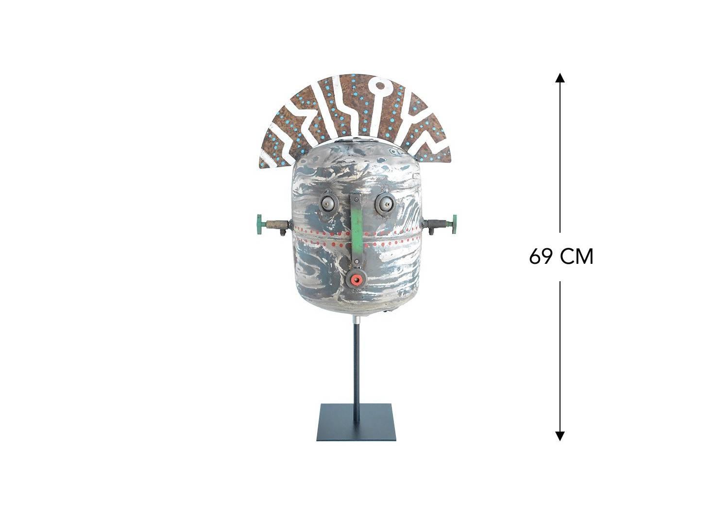 Masque décoratif en métal recyclé - MA53