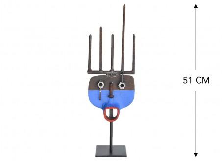 Masque décoratif en métal recyclé - S4