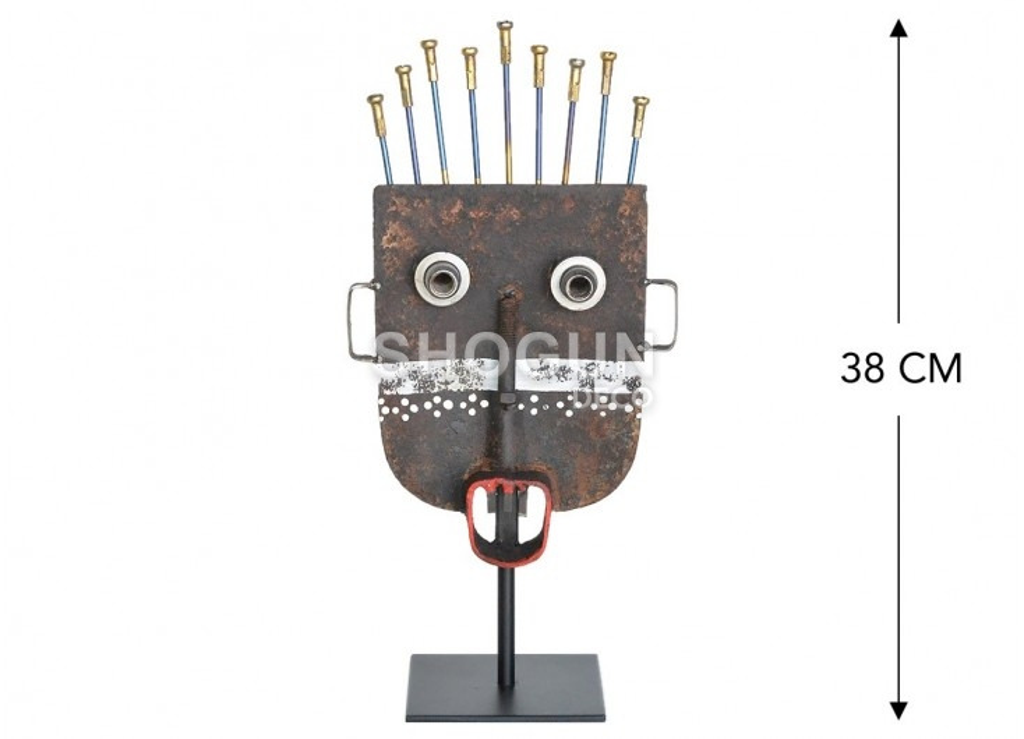 Masque décoratif en métal recyclé - S7