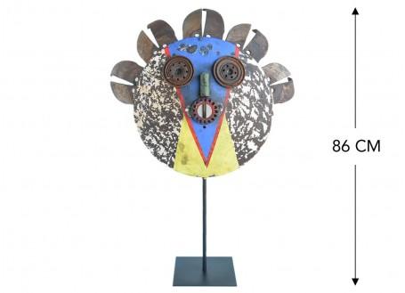 Masque décoratif en métal recyclé - L5