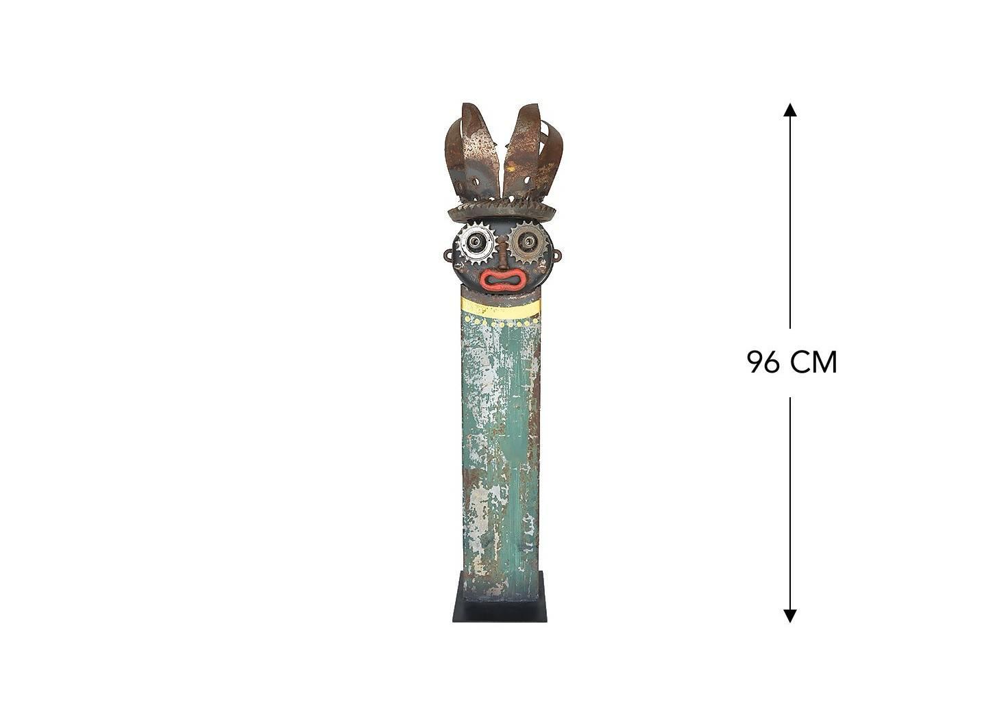 Masque décoratif en métal recyclé - L8