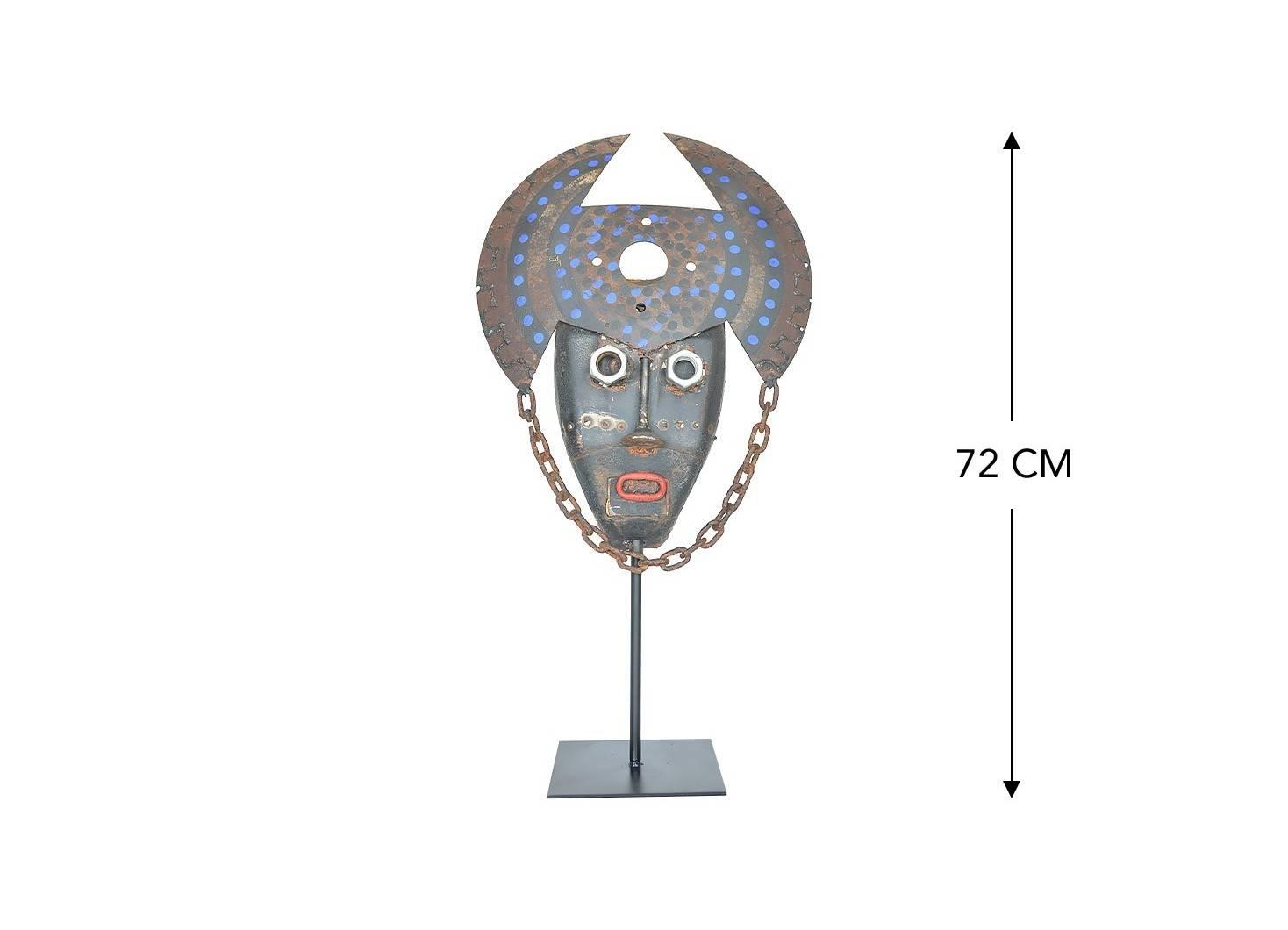 Masque décoratif en métal recyclé - L14