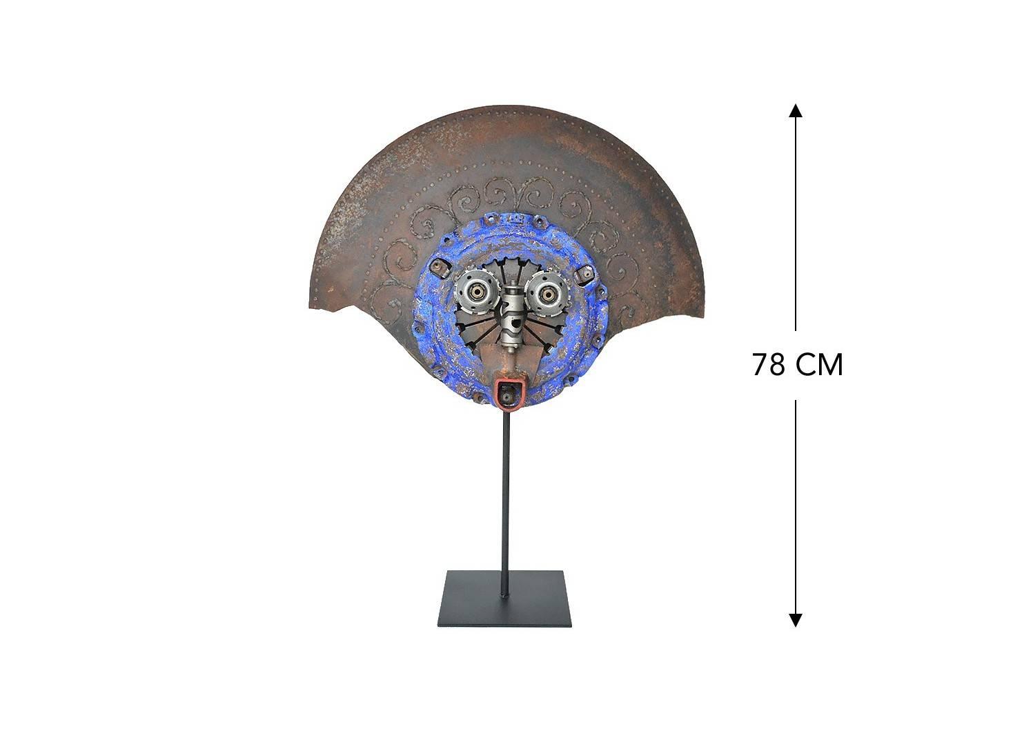 Masque décoratif en métal recyclé - L20