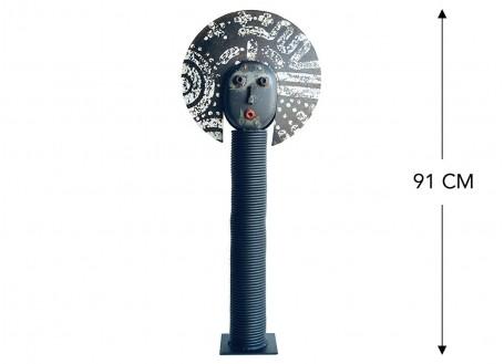 Masque décoratif en métal recyclé - L26