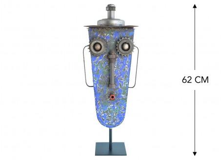 Masque décoratif en métal recyclé - M11