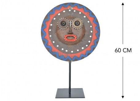 Masque décoratif en métal recyclé - M16
