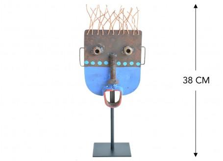 Masque décoratif en métal recyclé - S8