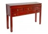 Console Chinoise - 5 tiroirs - Rouge