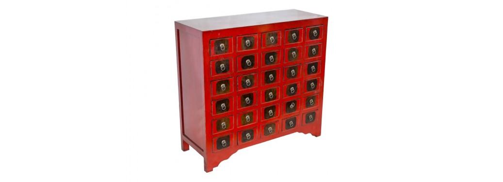Meuble de rangement Colbay Fu - 30 petits tiroirs