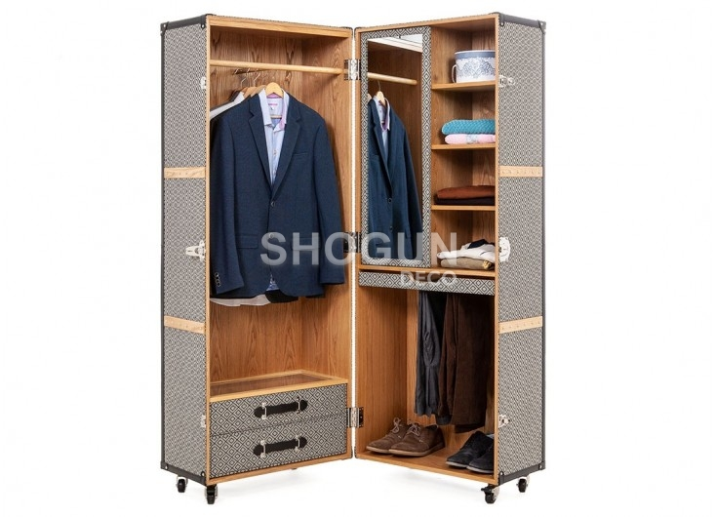 Malle garde robe Cap Horn - Simili cuir