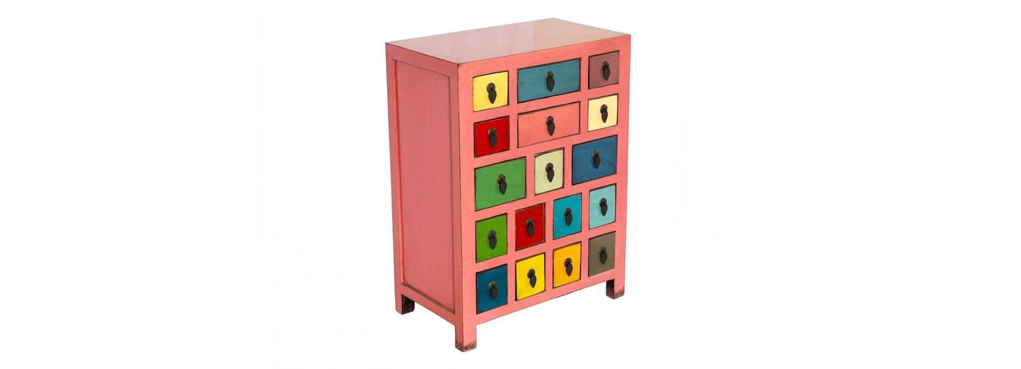 Meuble d'apothicaire Chinois - Multicolore