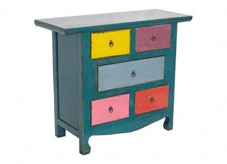 Commode Chinoise - 5 tiroirs - Multicolore