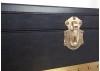 Commode Cap Horn - 5 tiroirs - Simili cuir croco marron foncé