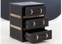 Chevet Cap Horn - 1 tiroir - Façon Galuchat noir