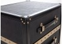 Chevet Cap Horn 3 tiroirs- Façon Galuchat noir