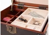 Chiffonnier-malle à bijoux Cap Horn - Façon croco noir