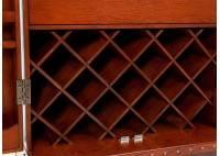 Meuble bar / malle à vins et liqueurs Cap Horn - Marron