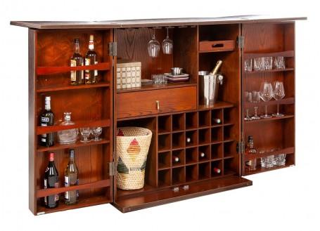Malle bar comptoir déployant Cap Horn - marron