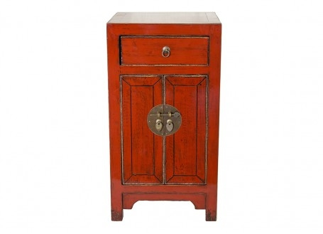 Chinese sideboard - 2 doors 1 drawer - Red