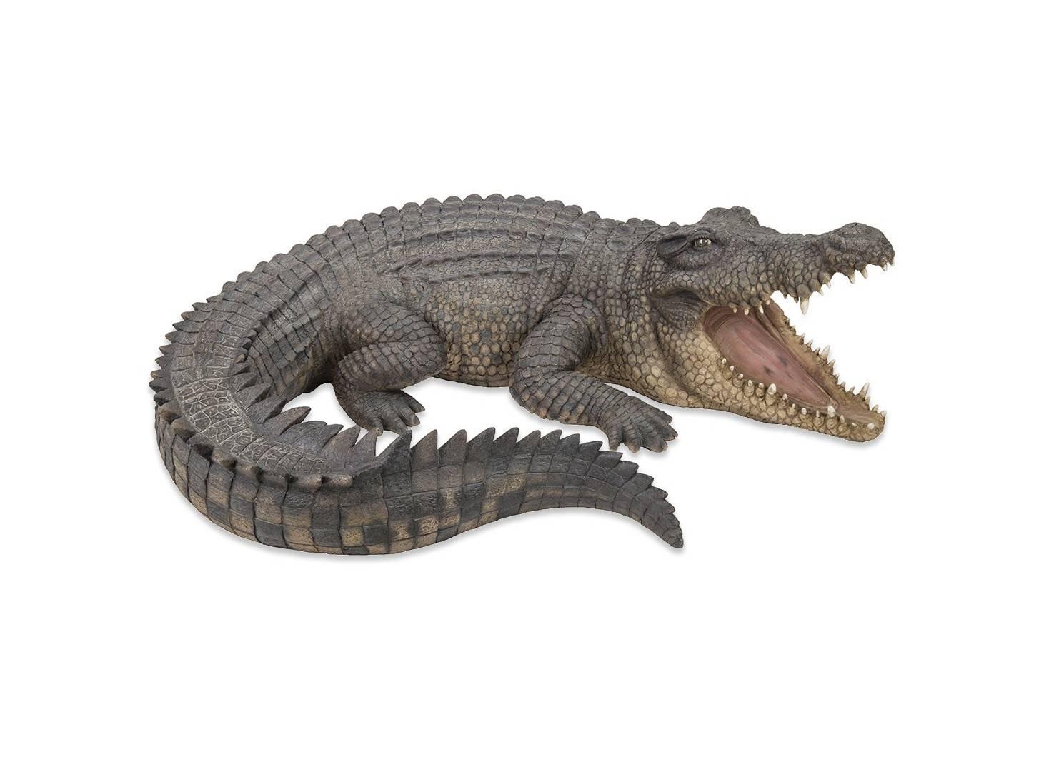 Statue réaliste Crocodile résine