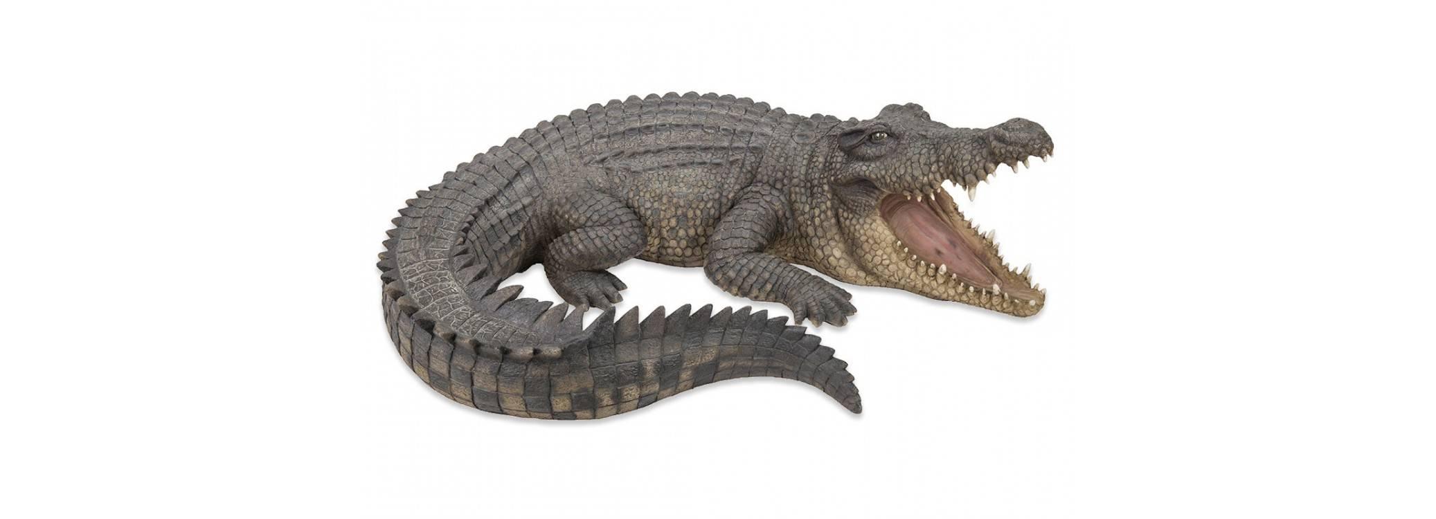 Statue réaliste - Crocodile