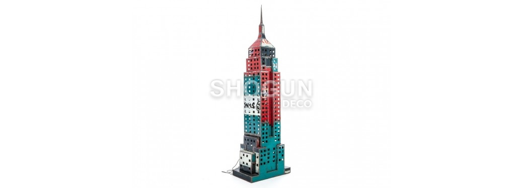 Empire State building made ouf of oil can - arts & crafts