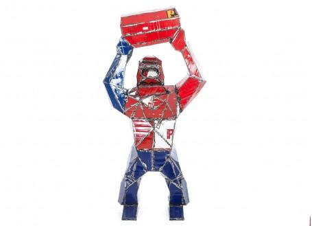 King-Kong en bidons recyclés