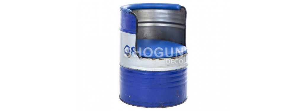 Armchair made ouf of oil can - arts & crafts