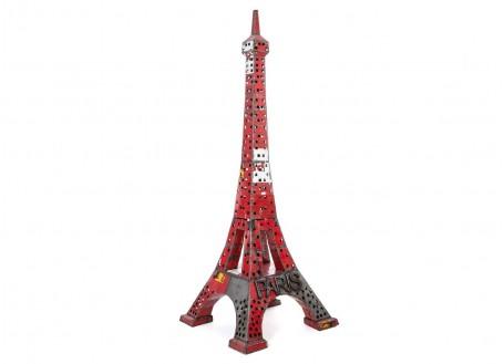 Tour Eiffel en bidons recyclés - artisanat