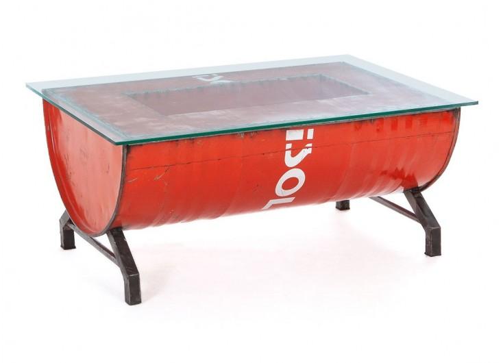 Table Basse En Bidon Recycle Artisanat