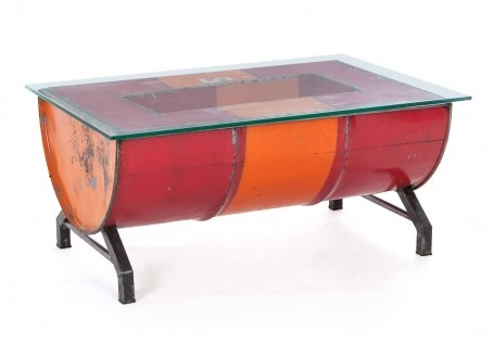 Table basse bidon recyclé - artisanat